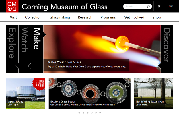 Karussell des Corning Museum of Glass