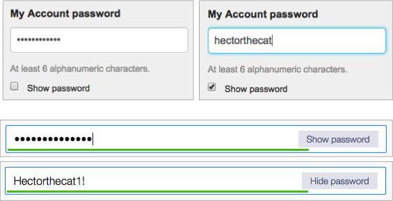 passwort sichtbar machen