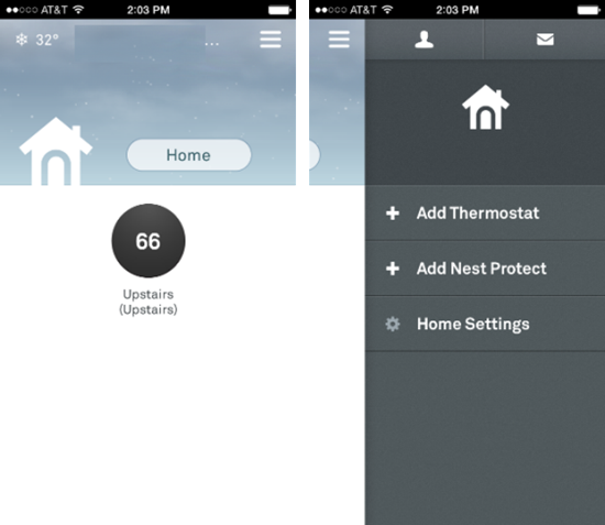 Nest iPhone-App