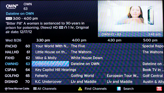 Screenshot Time Warner Cable
